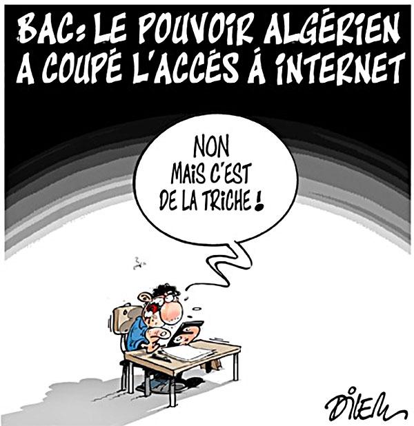Bac: Le pouvoir algérien a coupé l'accès à internet