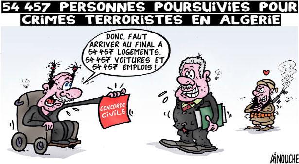 54 457 personnes poursuivies pour crimes terroristes en Algérie