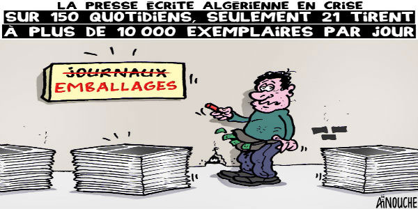 La presse écrite algérienne en crise: Sur 150 quotidiens