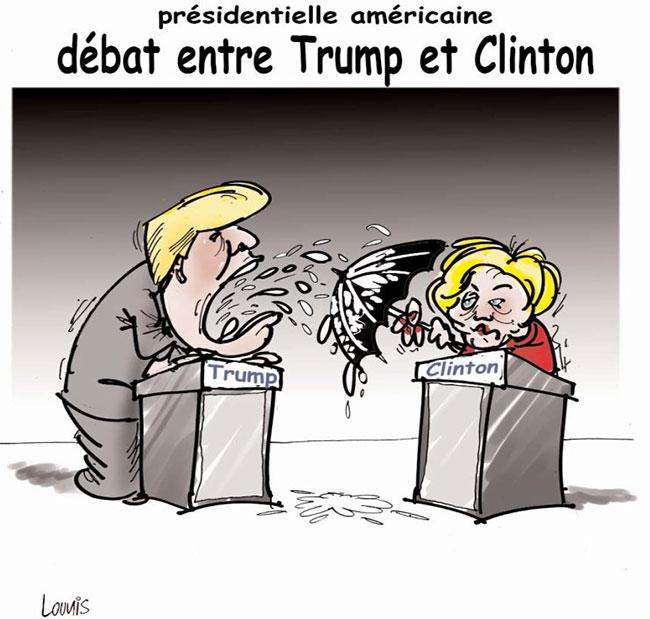 Présidentielle américaine: Débat entre Trump et Clinton