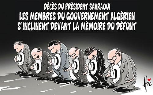 Décès du président sahraoui: Les membres du gouvernement algérien s'inclinent devant la mémoire du défunt