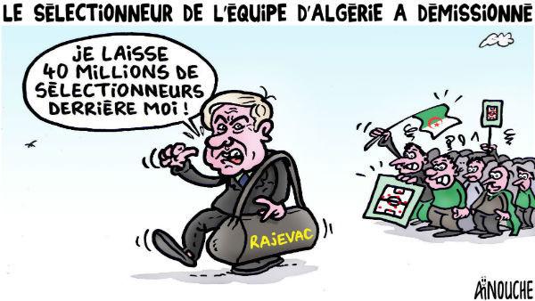 Le sélectionneur de l'équipe d'Algérie a démissionné