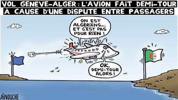 Vol Genève-Alger: L'avion fait demi-tour à cause d'une dispute entre passagers