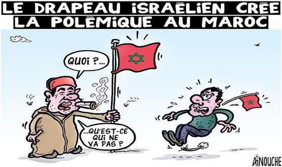Le drapeau israélien crée la polémique au Maroc
