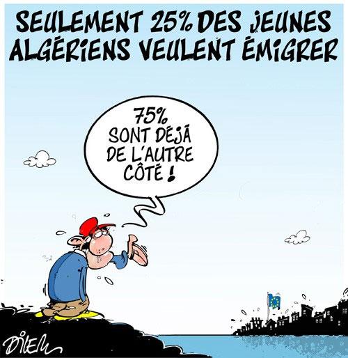 Seulement 25% des jeunes algériens veulent émigrer
