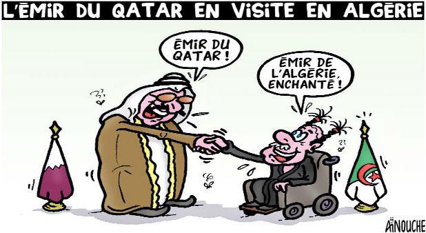 L'émir du Qatar en visite en Algérie