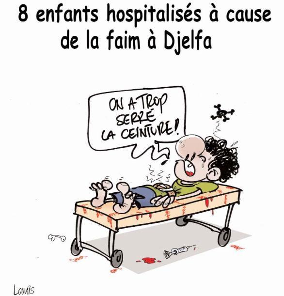 8 enfants hospitalisés à cause de la faim à Djelfa