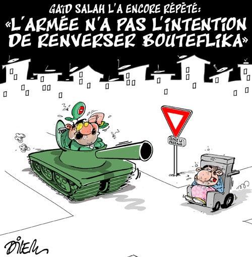 """Gaïd Salah l'a encore répété: """"L'armée n'a pas l'intention de renverser Bouteflika"""""""