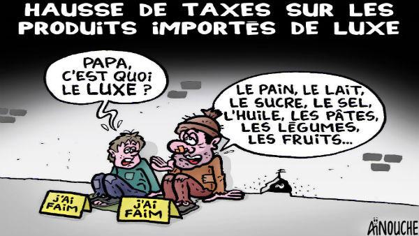 Hausse de taxes sur les produits importés de luxe