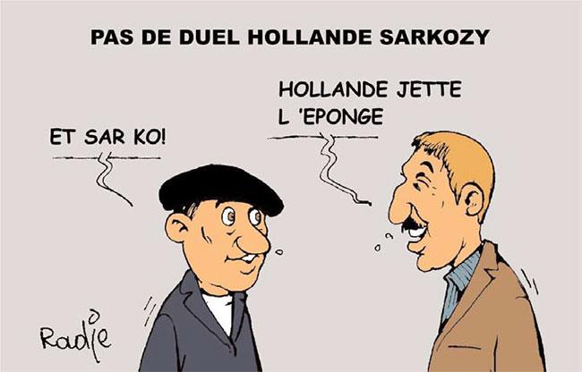 Pas de duel Hollande Sarkozy