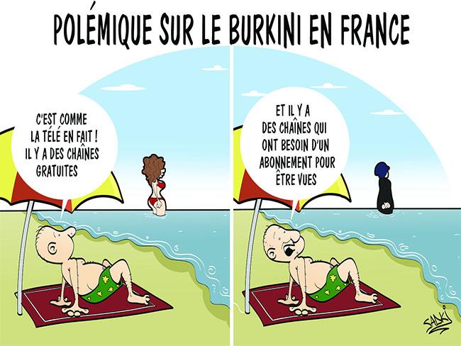 Polémique sur le burkini en France