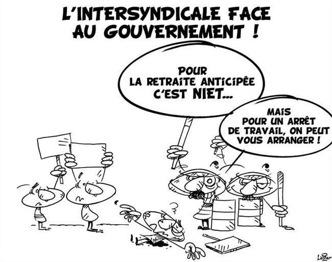 L'intersyndicale face au gouvernement