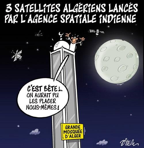 3 satellites algériens lancés par l'agence spatiale indienne