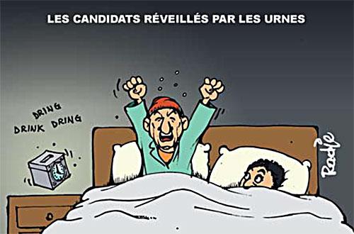 Les candidats réveillés par les urnes