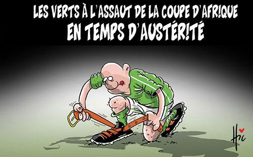Les verts à l'assaut de la coupe d'Afrique en temps d'austérité