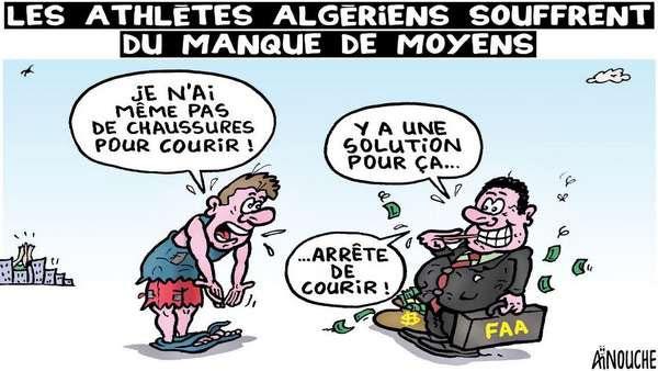 Les athlètes algériens souffrent du manque de moyens
