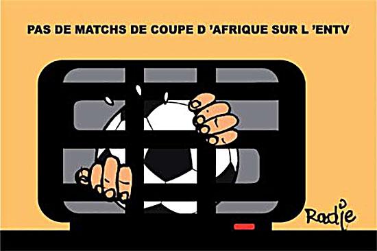 Pas de matchs de coupe d'Afrique sur l'entv