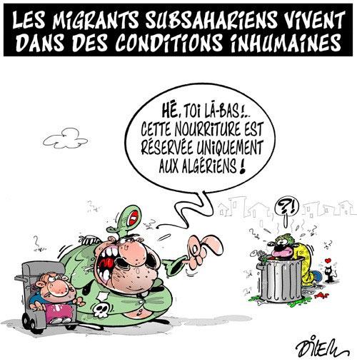 Les migrants subsahariens vivent dans des conditions inhumaines