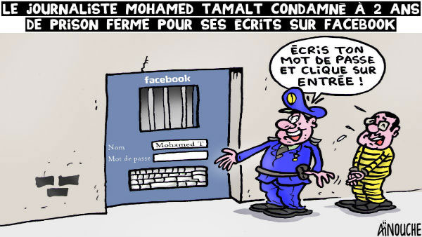 Le journaliste Mohamed Tamalt condamné à 2 ans de prison ferme pour ses écrits sur facebook