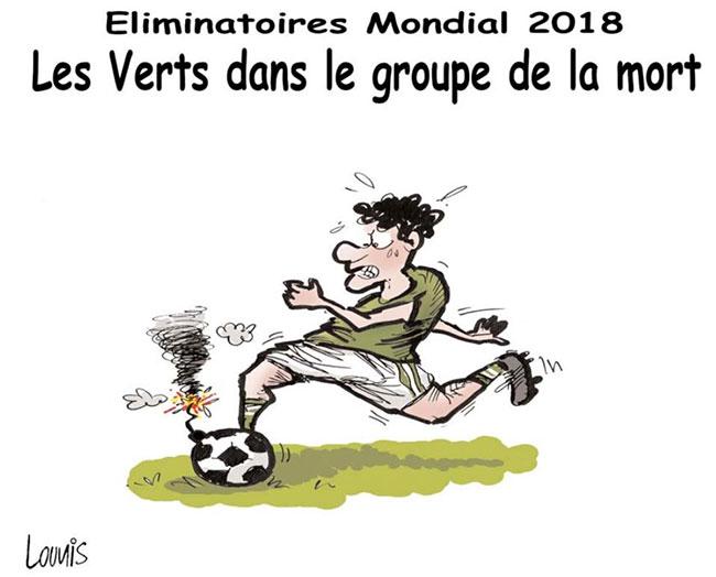Eliminatoires mondial 2018: Les verts dans le groupe de la mort