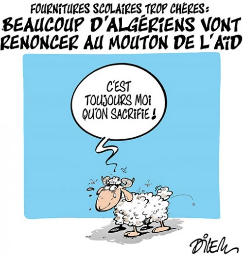 Fournitures scolaires trop chéres: Beaucoup d'algériens vont renoncer au mouton de l'aïd