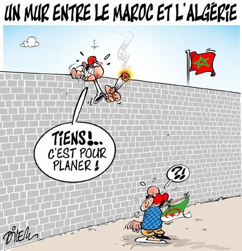 Un mur entre le Maroc et l'Algérie