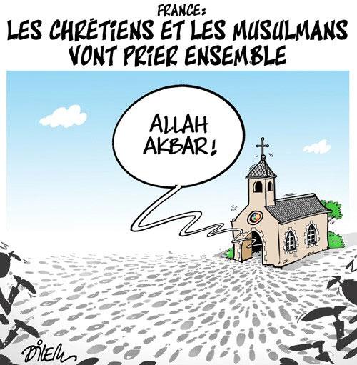 France: Les chrétiens et les musulmans vont prier ensemble