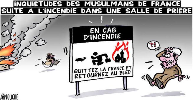 Inquiétudes des musulmans de France suite à l'incendie dans une salle de prière