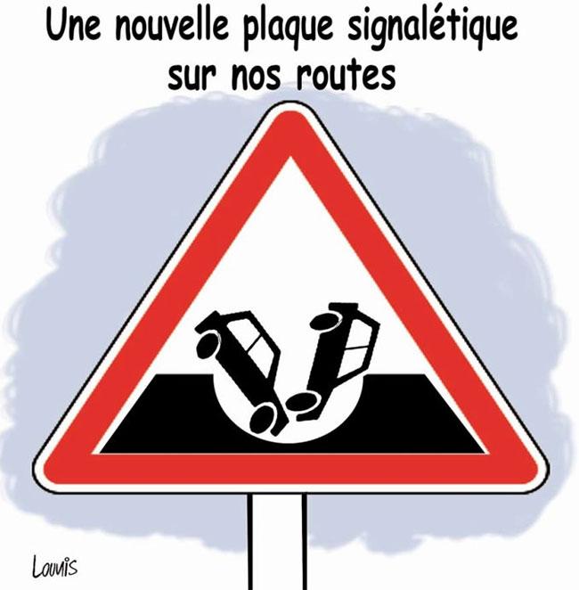 Une nouvelle plaque signalitique sur nos routes