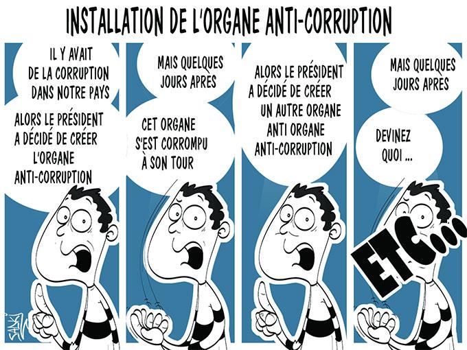 Installation de l'organe anti-corruption