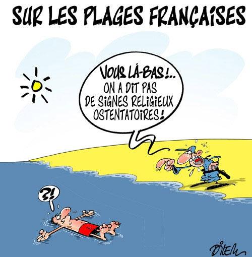 Sur les plages françaises