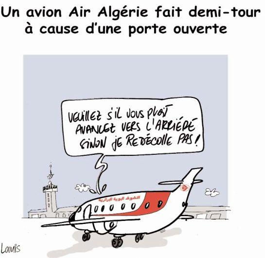 Un avion air Algérie fait demi-tour à cause d'une porte ouverte