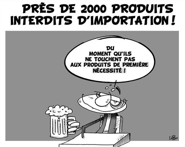Près de 2000 produits interdits d'importation