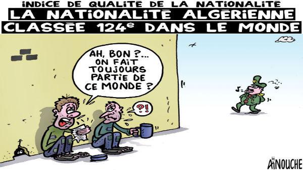 Indice de la qualité de la nationalité: La nationalité algérienne classée 124e dans le monde