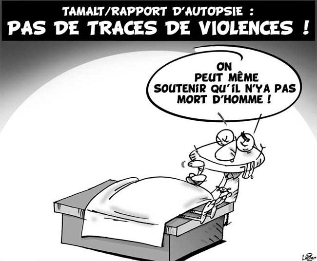 Tamalt/rapport d'autopsie: Pas de traces de violences