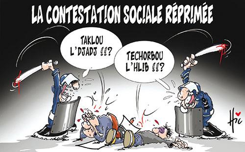 La contestation sociale réprimée