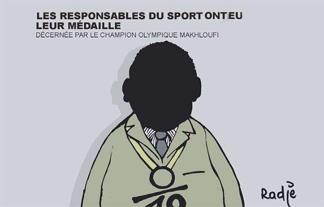Les responsables du sport ont eu leur médaille