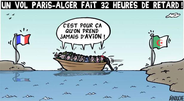 Un vol Paris-Alger fait 32 heures de retard