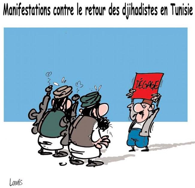 Manifestations contre le retour des djihadistes en Tunisie