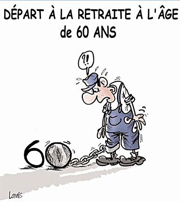 Départ à la retraite à l'âge de 60 ans