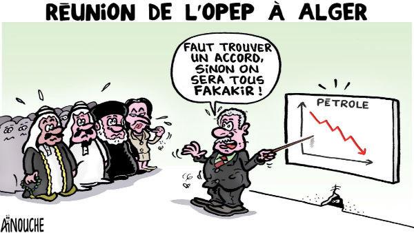 Réunion de l'opep à Alger