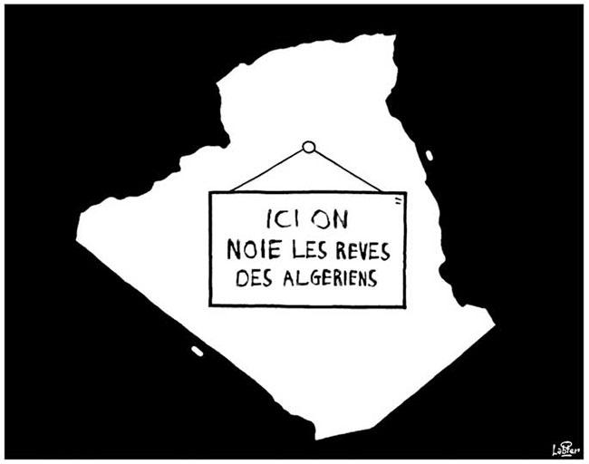 Ici on noie les rêves des algériens