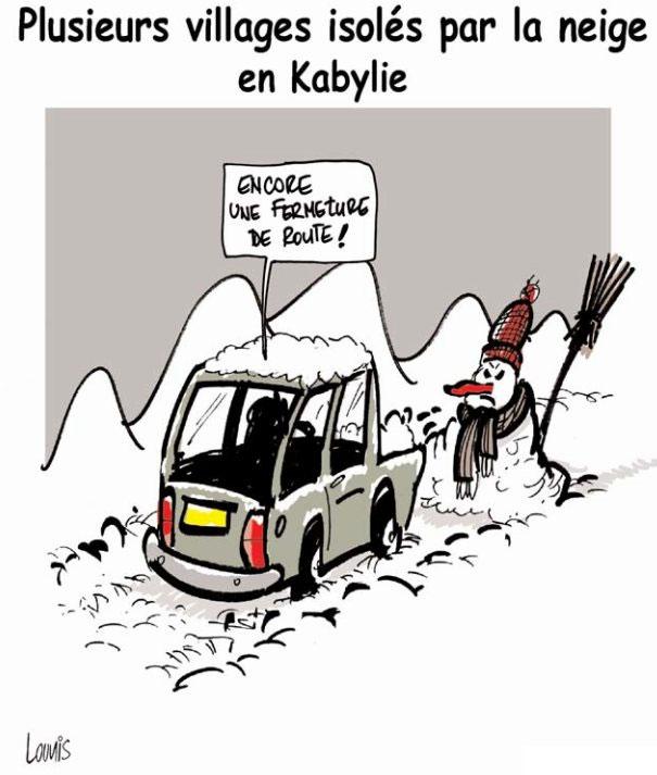 Plusieurs villages isolés par la neige en Kabylie