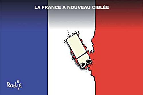 La France à nouveau ciblée