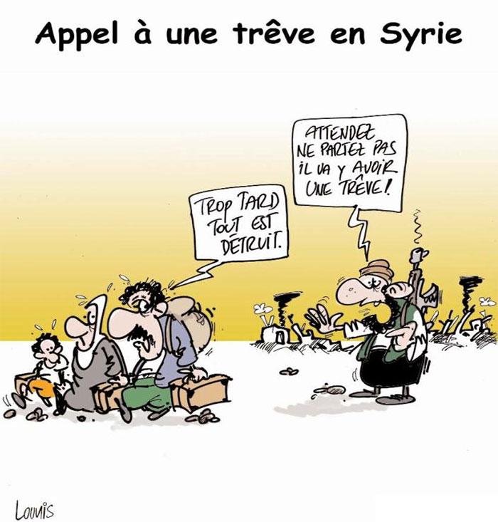 Appel à une trêve en Syrie