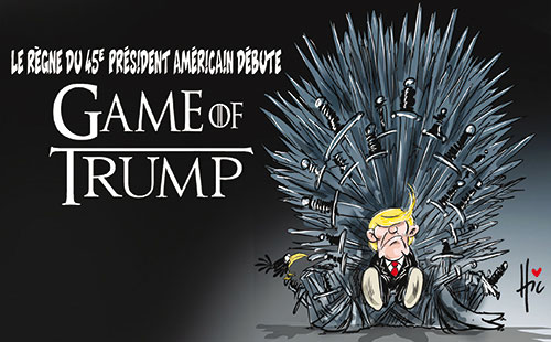 Le règne du 45e président américain débute