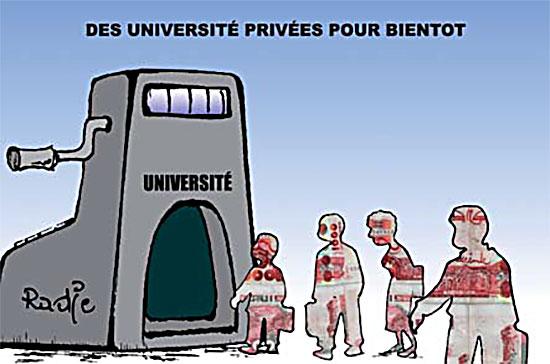 Des universités privées pour bientôt