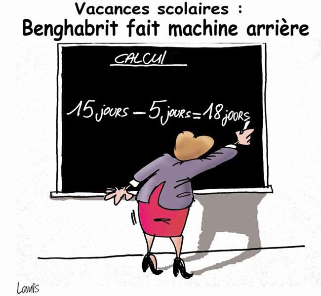Vacances scolaires: Benghebrit fait machine arrière