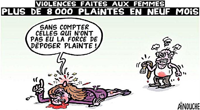 Violences faitres aux femmes: Plus de 8000 plaintes en neuf mois