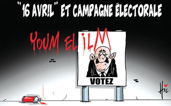 16 avril et campagne électorale